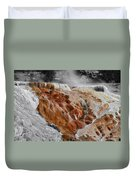 Hymen Terrace Mammoth Hot Springs Yellowstone Park Wy Duvet Cover