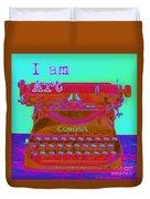 I Am Art Typewriter Duvet Cover