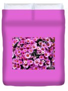 I Believe In Pink Daisies Duvet Cover