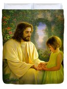 I Feel My Savior's Love Duvet Cover by Greg Olsen