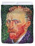 I Heart Van Gogh Portrait Of Vincent Duvet Cover