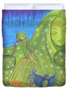I Know Why The Caged Bird Sings Pro Duvet Cover