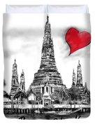 I Love Bangkok Duvet Cover