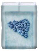 I Love Blueberries Duvet Cover by Priska Wettstein