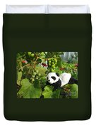 I Love Grapes Says The Panda Duvet Cover
