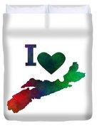 I Love Nova Scotia - Canada Duvet Cover