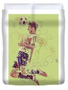 I Love Soccer Duvet Cover