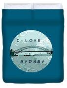 I Love Sydney Duvet Cover
