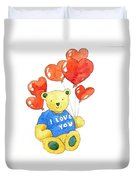 I Love You Bear Duvet Cover