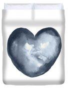 Blue Heart, I Love You Quote Men Women Gift Idea Heart Minimalist Picture Wall Decor Clipart  Duvet Cover