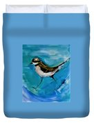 I See You Said The Killdeer As She Passed By Duvet Cover