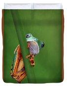 I See You - Tiger Leg Monkey Frog Duvet Cover