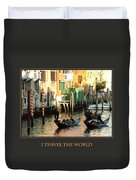I Travel The World Venice Duvet Cover
