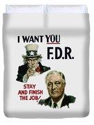 I Want You Fdr  Duvet Cover