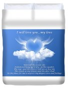 I Will Love You, My Love Duvet Cover