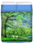 I Will Wait For You In Summer Duvet Cover