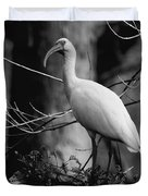 Ibis In Black And White  Duvet Cover
