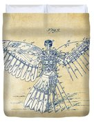 Icarus Human Flight Patent Artwork - Vintage Duvet Cover