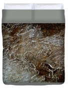 Ice And Rock Abstract Duvet Cover