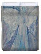 Ice Blue Angel Duvet Cover