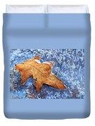 Ice-bound Leaf Duvet Cover