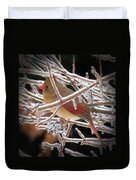 Ice Cage - Female Cardinal Duvet Cover