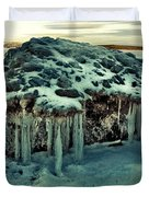 Ice Cave Of Stones Duvet Cover