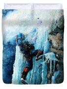 Ice Climb Duvet Cover