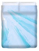 Ice Covered Mountains Good For Ice Climbing Duvet Cover