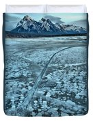 Ice Cracks And Bubbles Duvet Cover