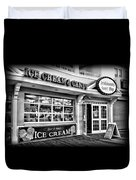 Ice Cream And Candy Shop At The Boardwalk - Jersey Shore Duvet Cover