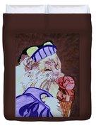 Ice Cream Kitty Duvet Cover