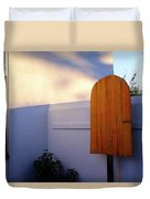 Ice Cream Shop Wooden Popsicle In Saint Augustine Florida Duvet Cover