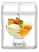 Ice Cream With Fruit Duvet Cover by Elena Elisseeva