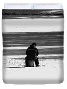 Ice Fishing Duvet Cover