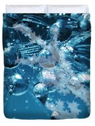 Ice Flower Abstract Duvet Cover