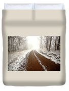 Ice Fog In Cypress Hills Provincial Park Of Saskatchewan Duvet Cover