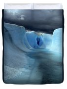 Ice Formations On Grey Glacier Chile Duvet Cover