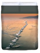 Ice Fracture Duvet Cover