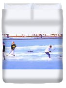 Ice Hockey - Two On Two Duvet Cover