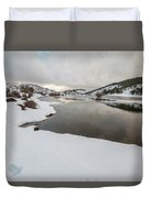 Ice In The River Duvet Cover