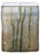 Ice Melting On Window During Sunrise Duvet Cover