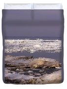 Ice On Lake Huron Duvet Cover