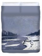 Ice On The Seine At Bougival Duvet Cover