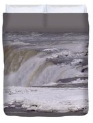 Ice Over The Falls Duvet Cover