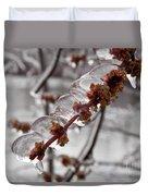 Ice Rain In Springtime Duvet Cover