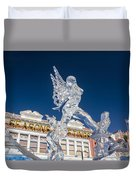 The Annual Ice Sculpting Festival In The Colorado Rockies, The Allure Of A Siren Duvet Cover