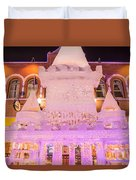 The Annual Ice Sculpting Festival In The Colorado Rockies, The Castle With A Parapet Duvet Cover