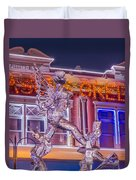 The Annual Ice Sculpting Festival In The Colorado Rockies, The Beguiling Siren Duvet Cover