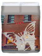 The Annual Ice Sculpting Festival In The Colorado Rockies, The Flittering Butterfly Duvet Cover